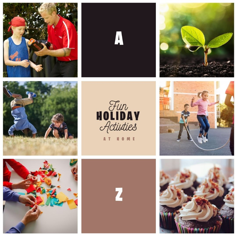 a to z of fun school holiday activities for kids
