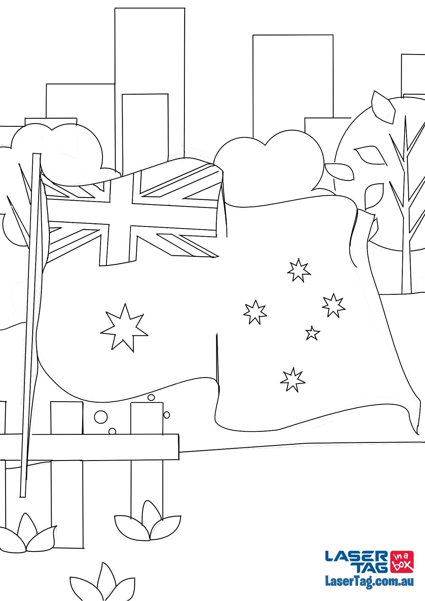 aus flag printable