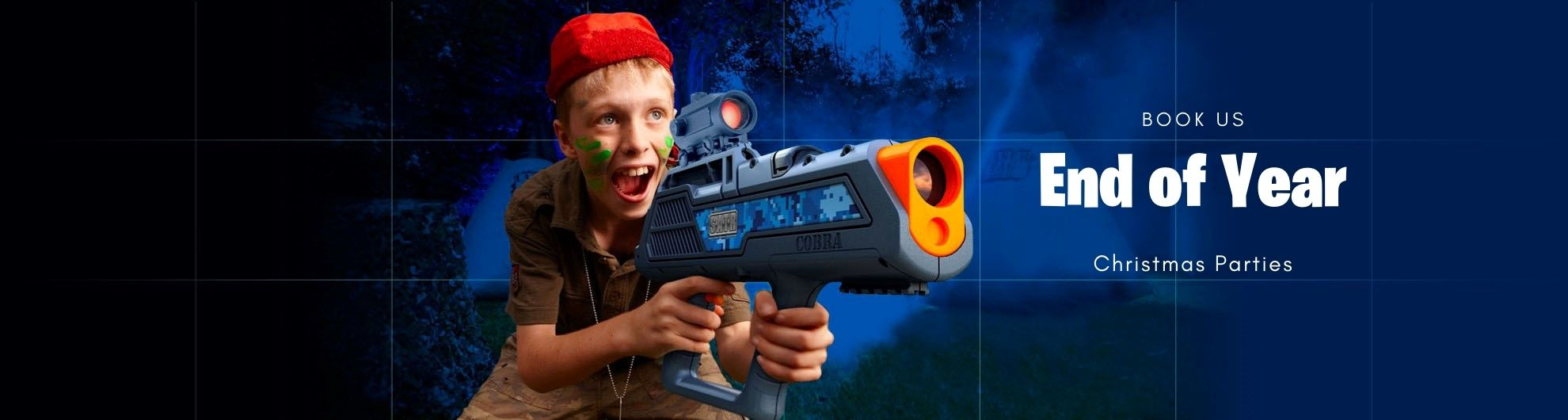 Throw a Laser Tag Christmas Party at your Place: Play Outdoors.