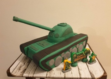 recent blog post - tank cake