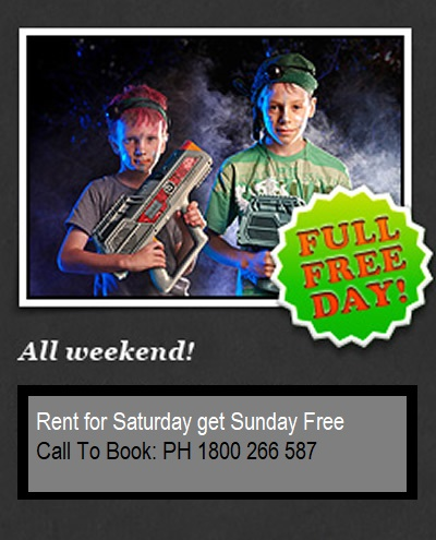 laser tag party call to book